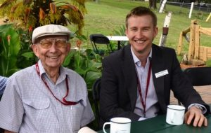 Arthur McDonald with Jesse Caulfield in 2015. Photo by Queensland Corrective Services.