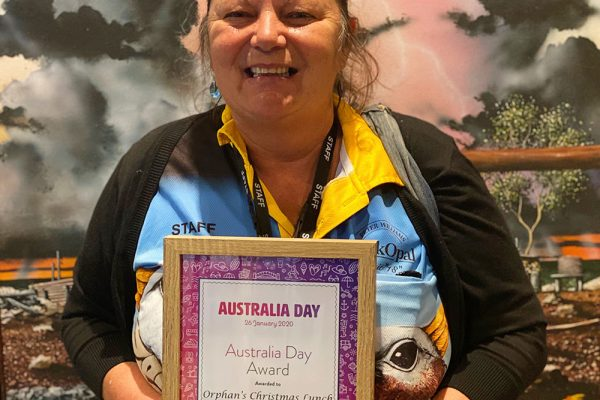 From prisoner to award winner: Rata won an Australia Day Award from her local regional council this year.